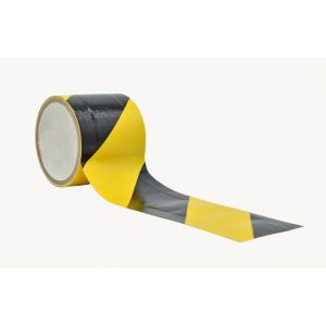 MAT Floor Cord Cover Tape in Bulk, Black & Yellow Safety Stripe 70 Mesh Cloth (Multiple Sizes), DTCZT